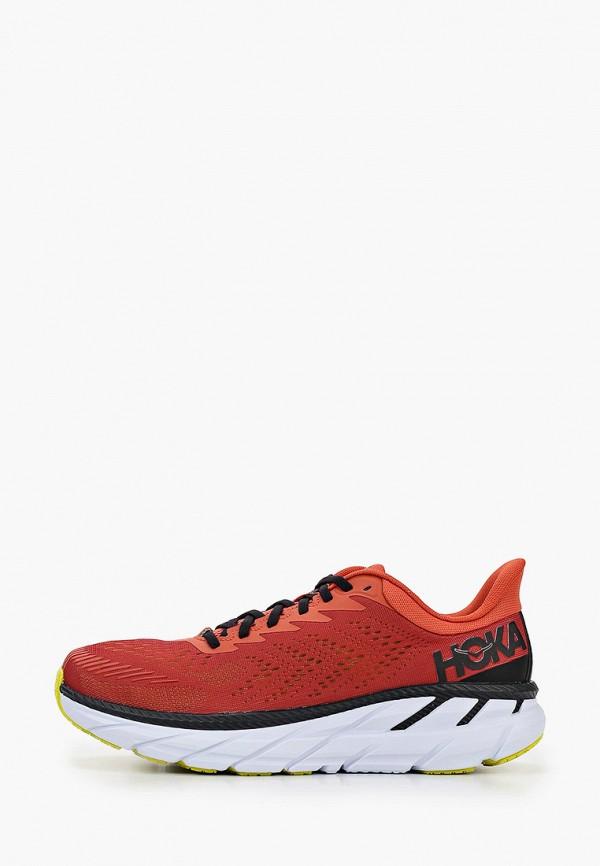 мужские кроссовки hoka one one, красные