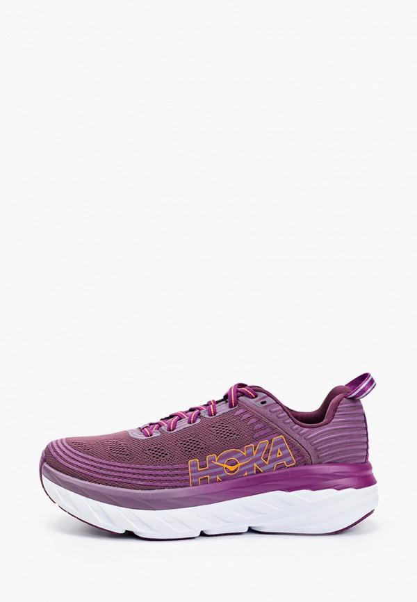 женские кроссовки hoka one one, фиолетовые
