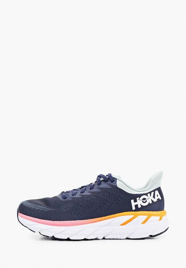 женские кроссовки hoka one one, синие