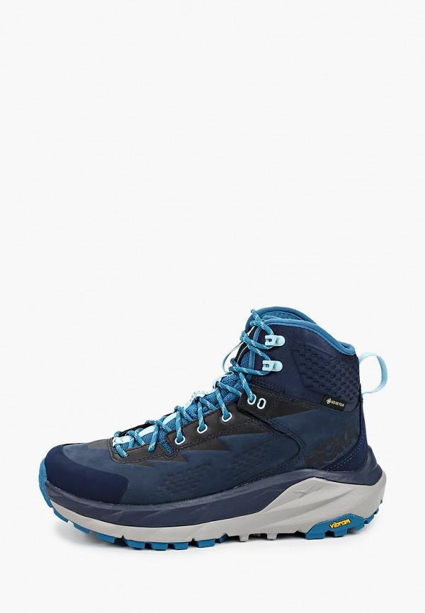 женские ботинки hoka one one, синие