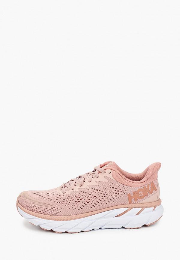 женские кроссовки hoka one one, розовые