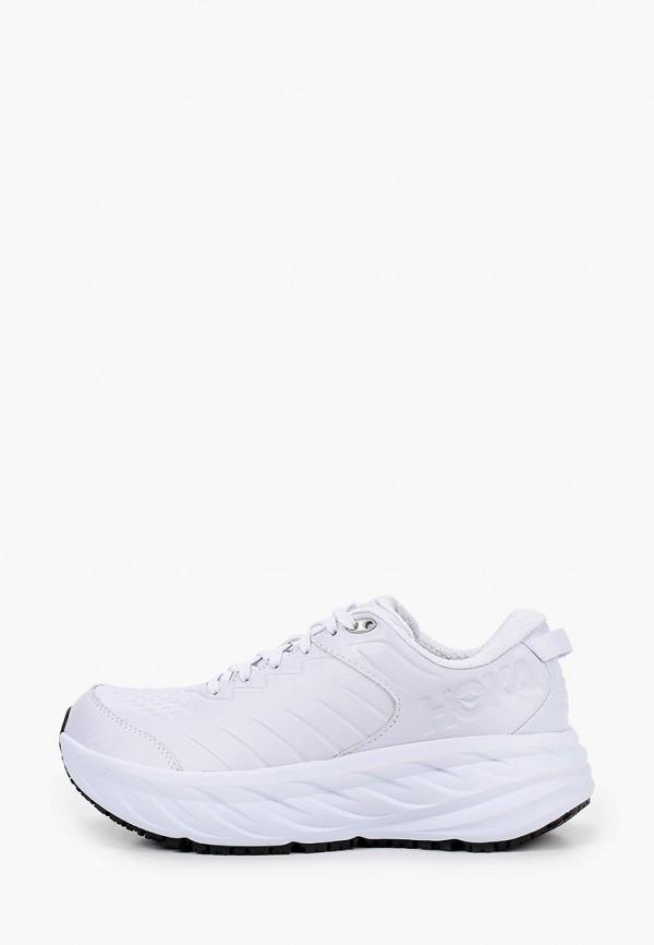 женские кроссовки hoka one one, белые