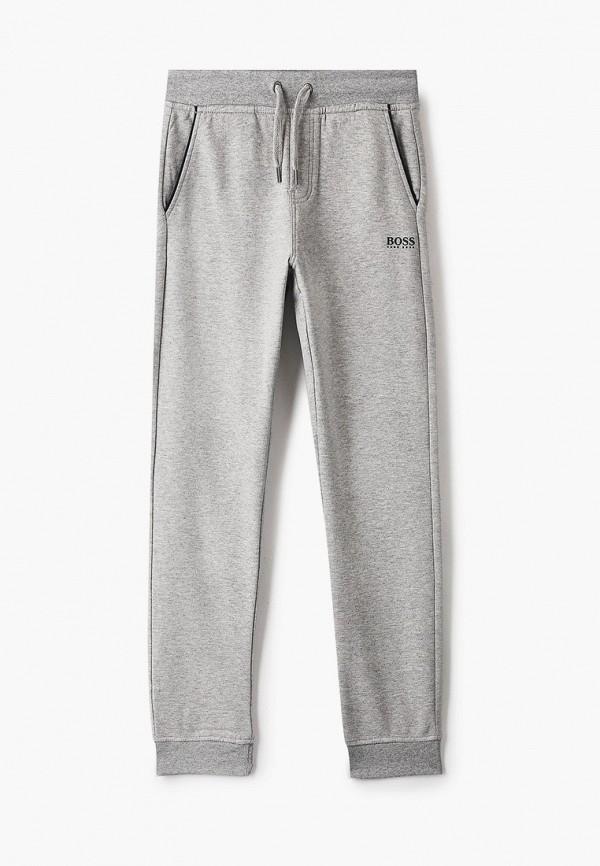 спортивные брюки boss для мальчика, серые