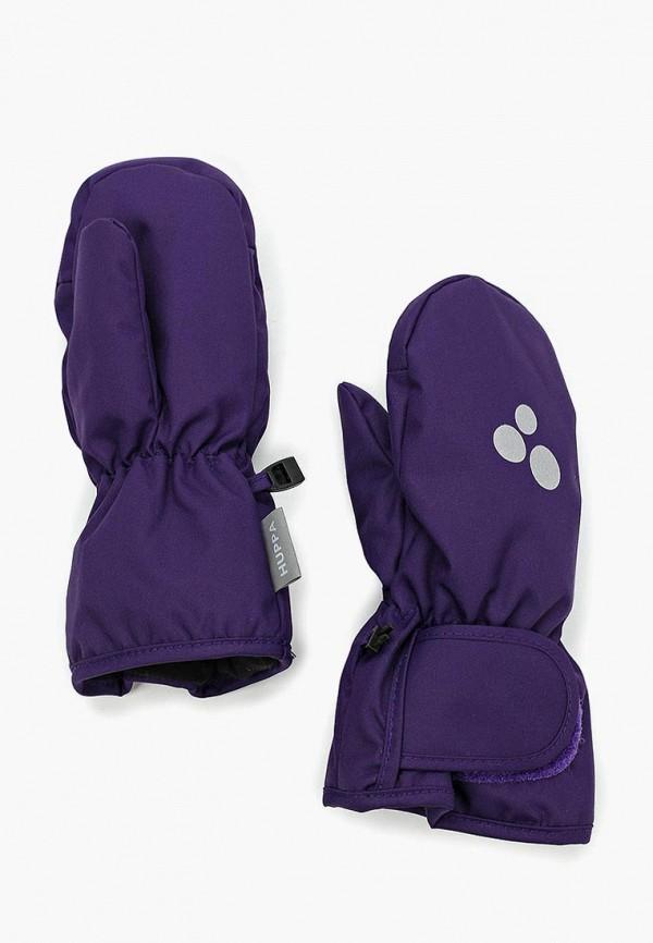 варежки huppa для девочки, фиолетовые