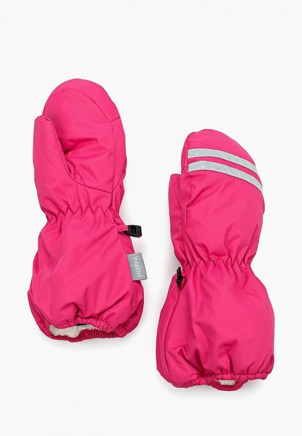 варежки huppa для девочки, розовые