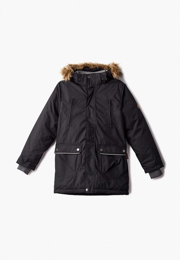 куртка huppa для мальчика, черная