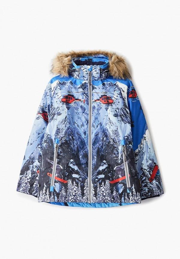 куртка huppa для мальчика, синяя