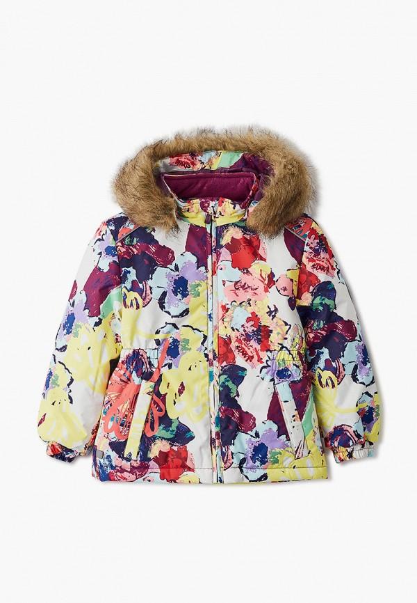 куртка huppa для девочки, разноцветная