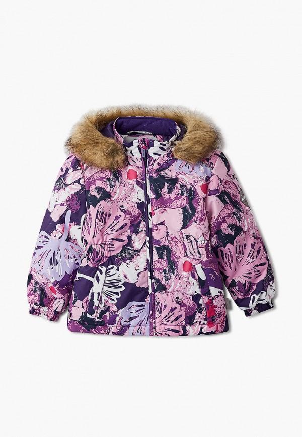 куртка huppa для девочки, фиолетовая