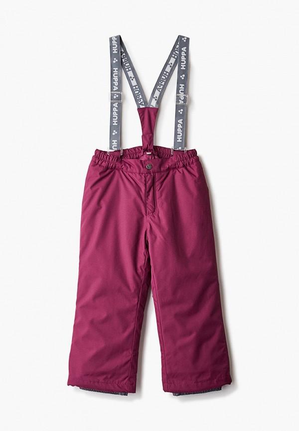 брюки huppa для девочки, бордовые