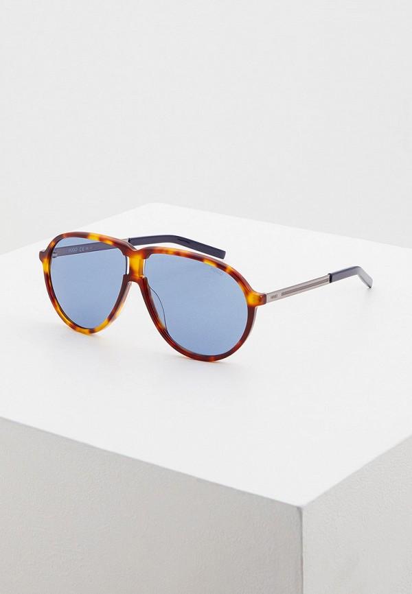 мужские солнцезащитные очки hugo, голубые