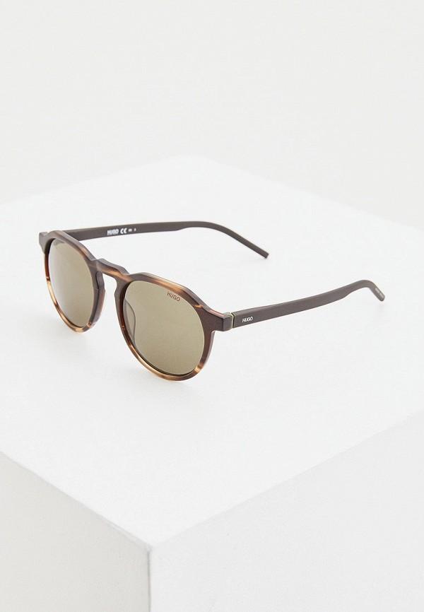 мужские солнцезащитные очки hugo, коричневые