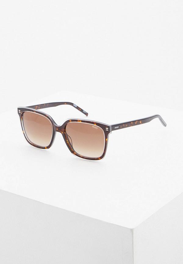 женские солнцезащитные очки hugo, коричневые