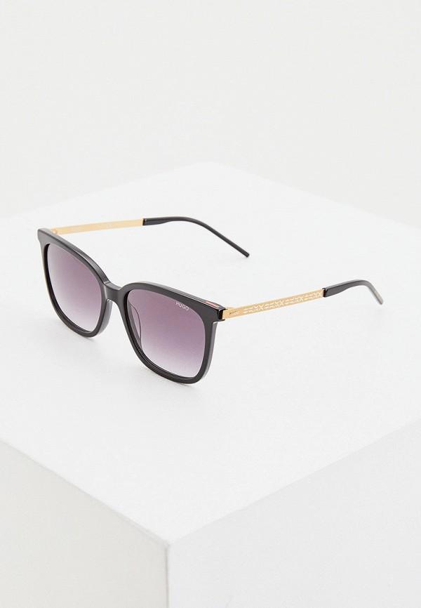 женские солнцезащитные очки hugo, черные