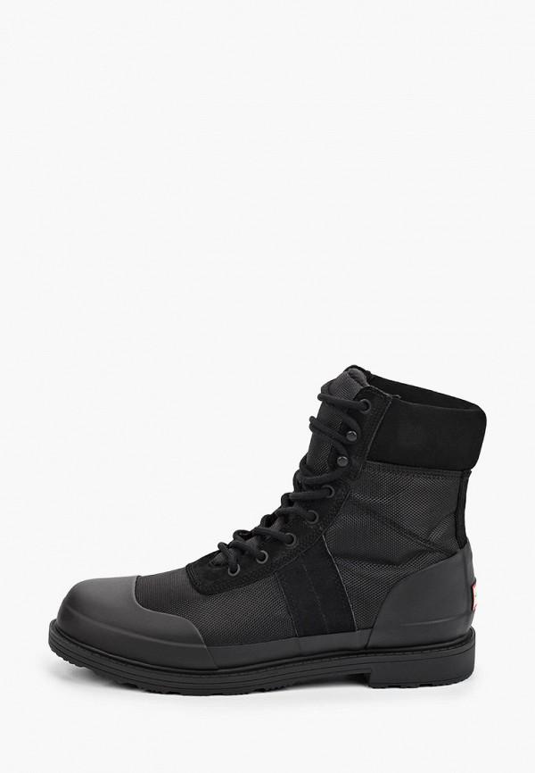 мужские ботинки hunter, черные