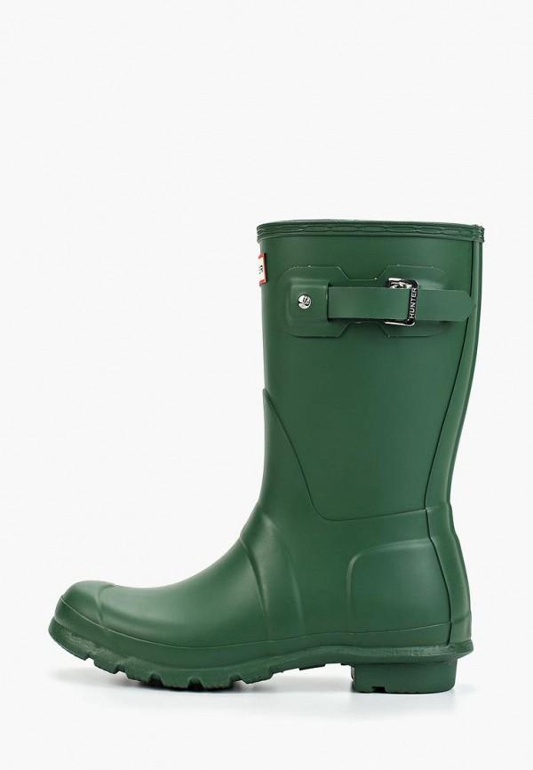 женские резиновые сапоги hunter, зеленые