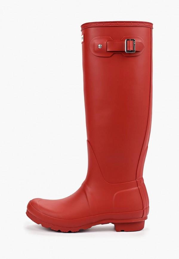 женские резиновые сапоги hunter, красные