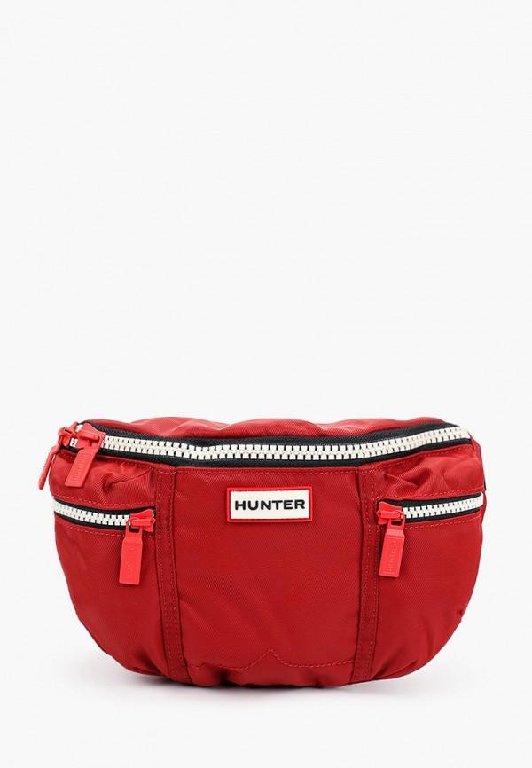 женская сумка hunter, бордовая