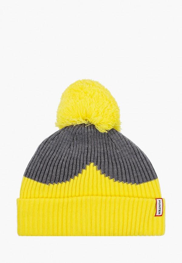 женская шапка hunter, желтая