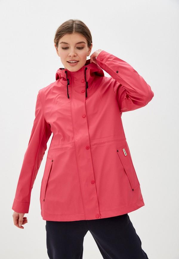 женская куртка hunter, розовая
