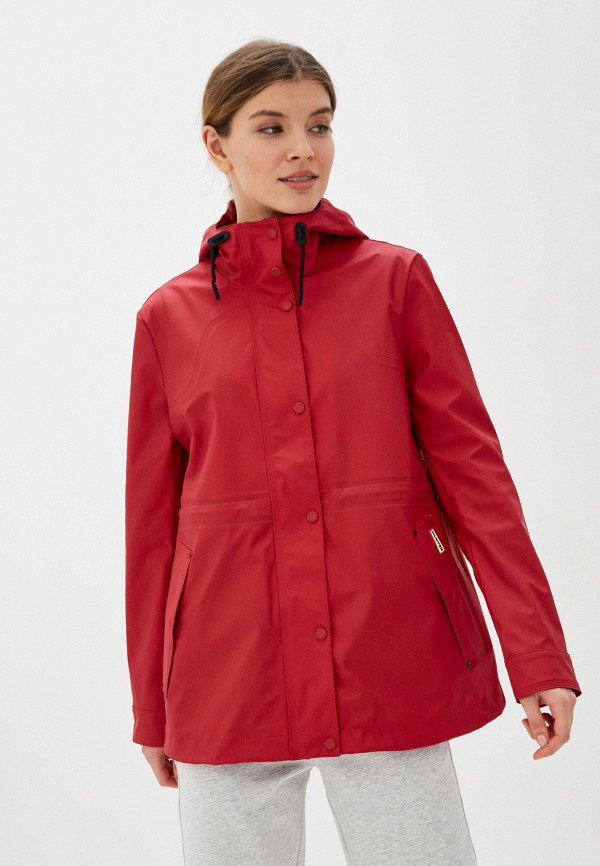 женская куртка hunter, красная