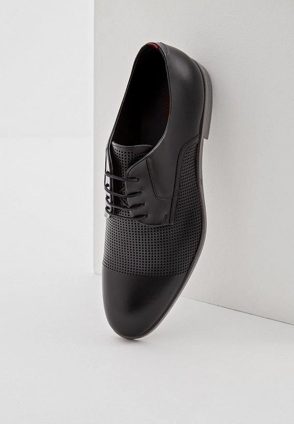 Фото 5 - мужские туфли Hugo черного цвета