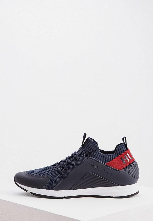 Фото - мужские кроссовки Hugo синего цвета