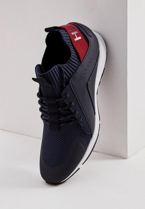 Фото 2 - мужские кроссовки Hugo синего цвета