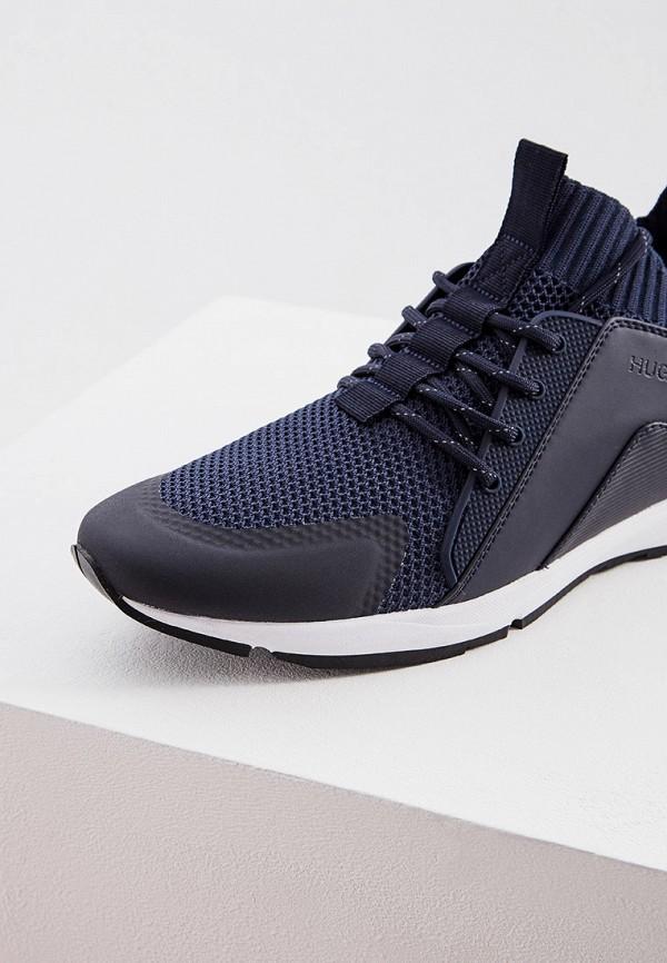 Фото 4 - мужские кроссовки Hugo синего цвета