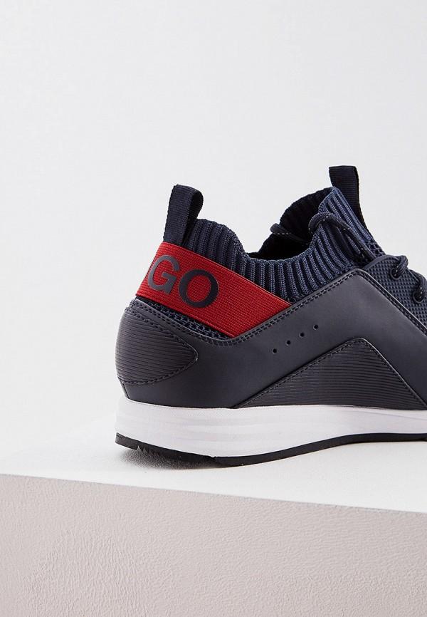 Фото 5 - мужские кроссовки Hugo синего цвета