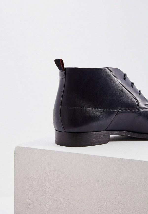 Фото 4 - мужские ботинки и полуботинки Hugo Hugo Boss синего цвета