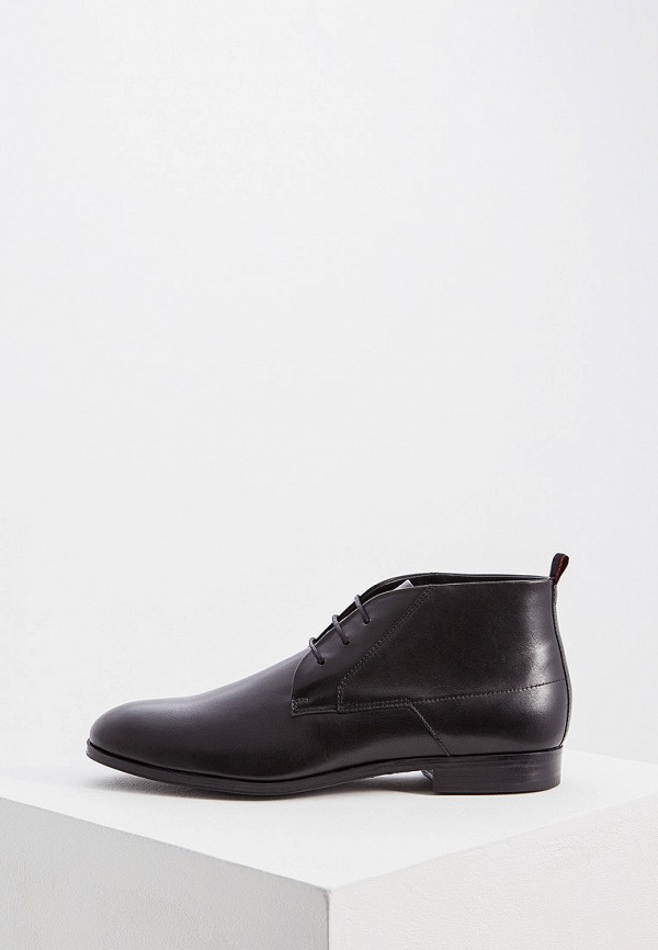 Фото - мужские ботинки и полуботинки Hugo Hugo Boss черного цвета