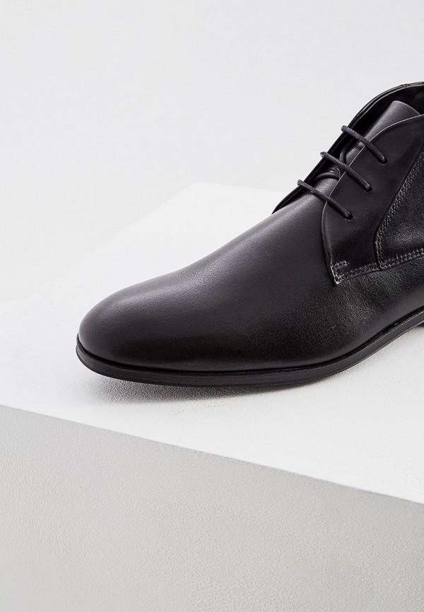 Фото 4 - мужские ботинки и полуботинки Hugo Hugo Boss черного цвета