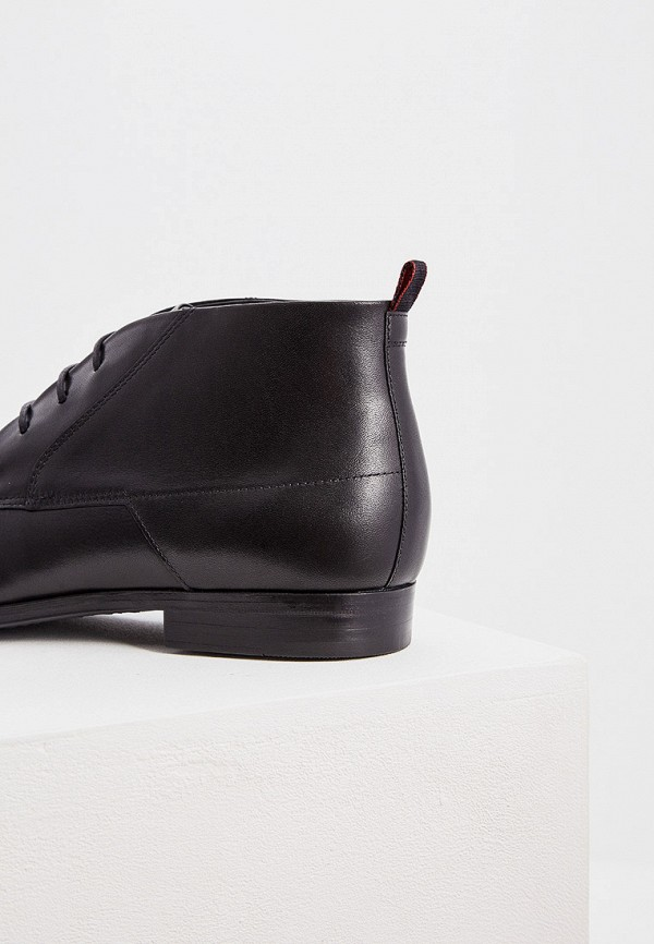 Фото 5 - мужские ботинки и полуботинки Hugo Hugo Boss черного цвета