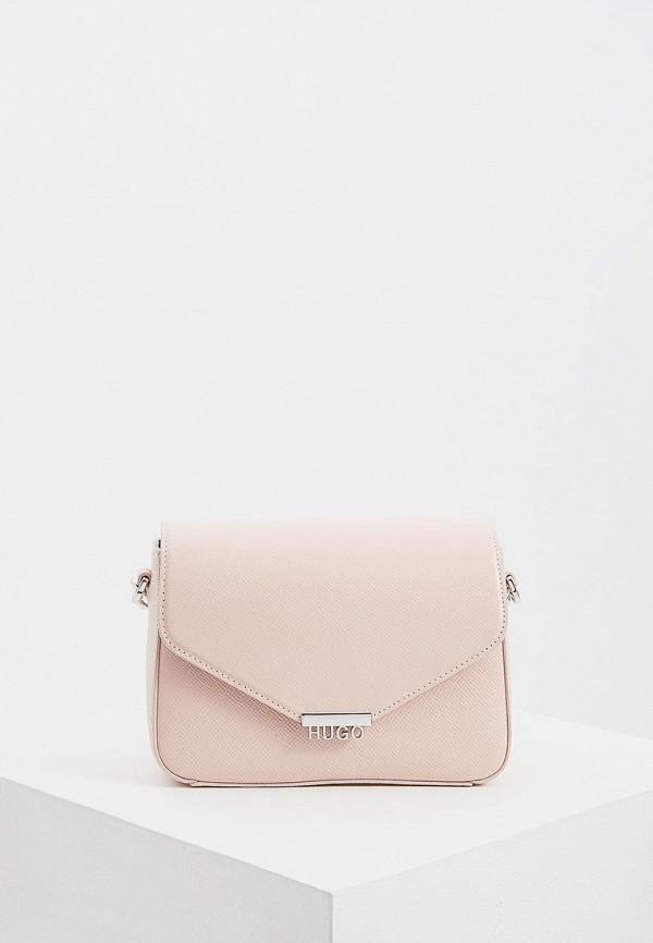 женская сумка hugo boss, розовая