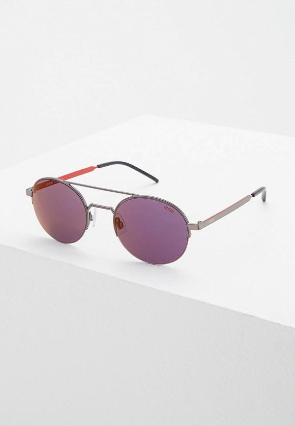 мужские солнцезащитные очки hugo boss, серые