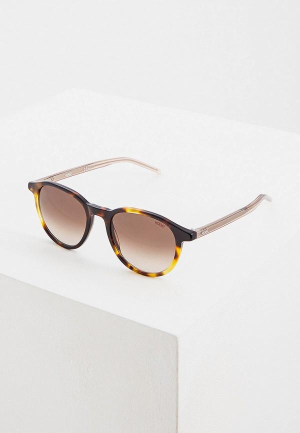 женские солнцезащитные очки hugo boss, коричневые