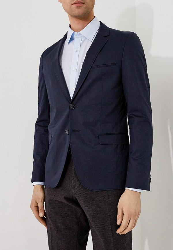 мужской пиджак hugo, синий