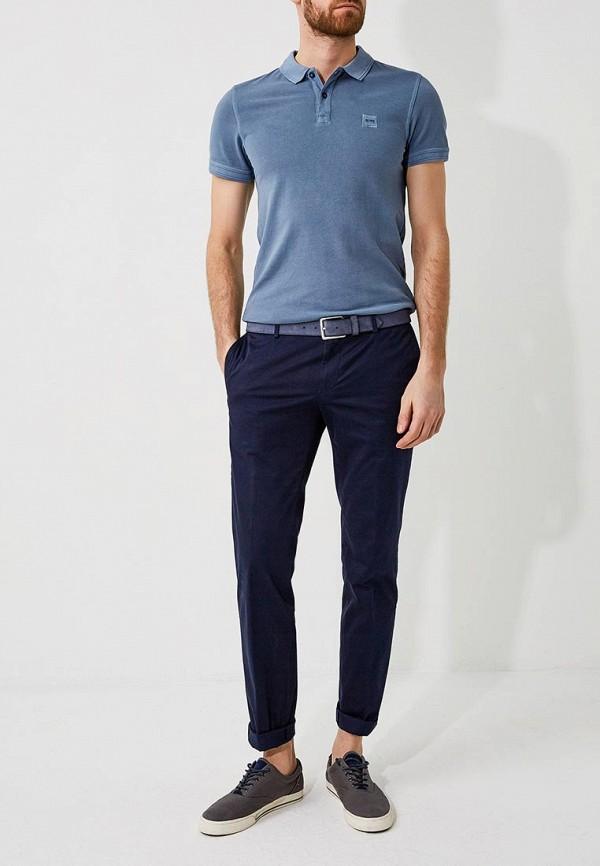 Фото 2 - мужские брюки Hugo синего цвета