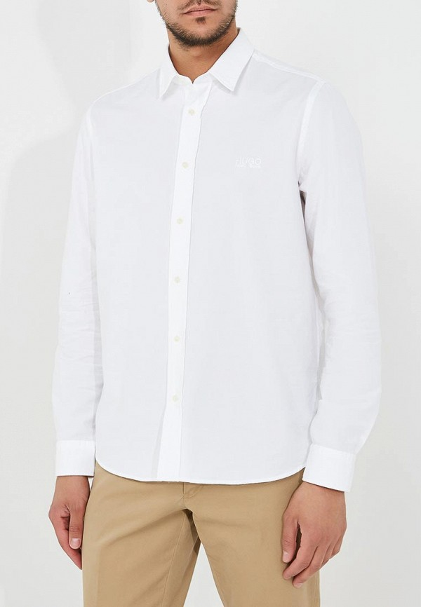 Фото - мужскую рубашку Hugo Hugo Boss белого цвета