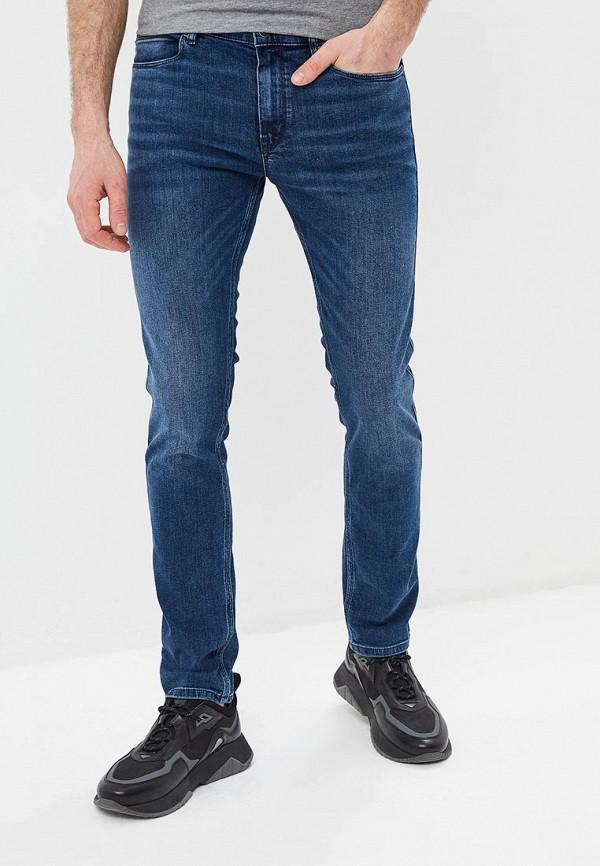 мужские зауженные джинсы hugo, синие