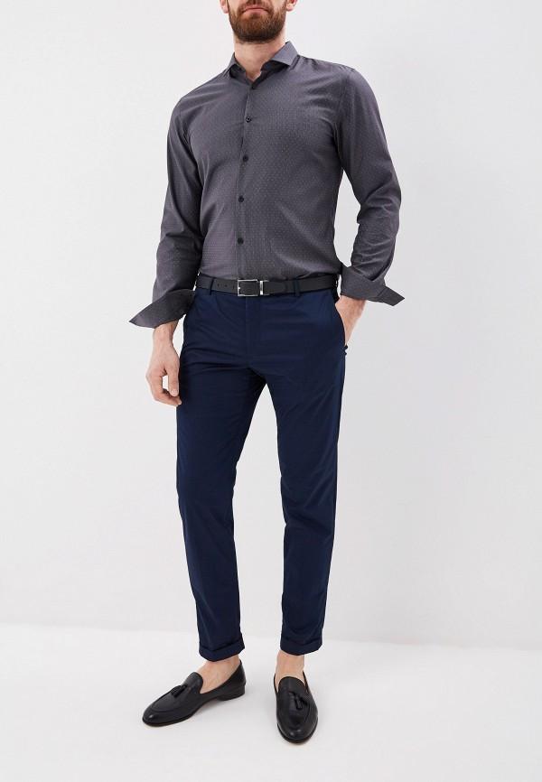 Фото 2 - мужскую рубашку Hugo серого цвета