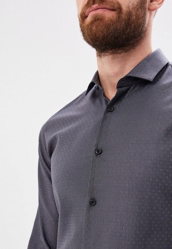 Фото 4 - мужскую рубашку Hugo серого цвета