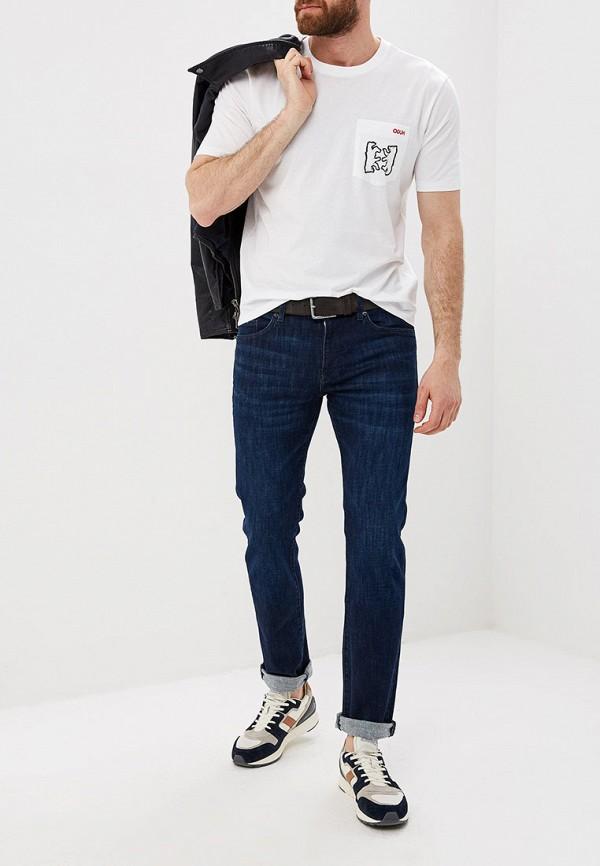 Фото 2 - мужскую футболку Hugo белого цвета