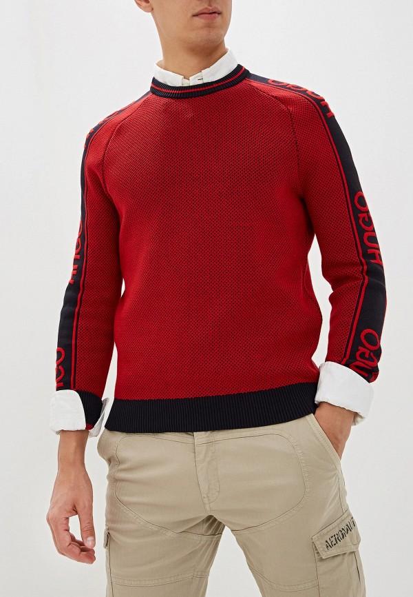 мужской джемпер hugo, красный