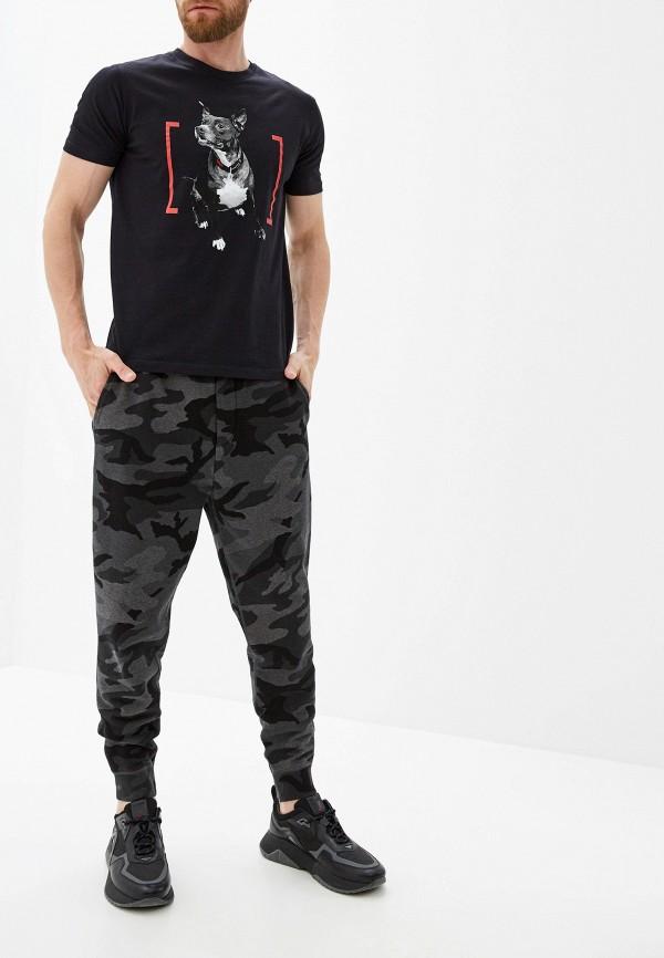 Фото 2 - мужскую футболку Hugo Hugo Boss черного цвета