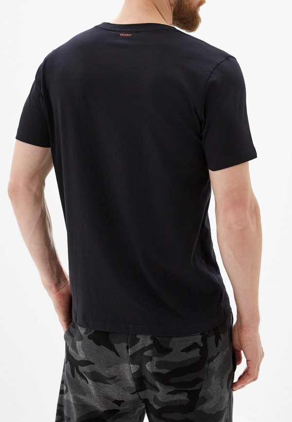 Фото 3 - мужскую футболку Hugo Hugo Boss черного цвета