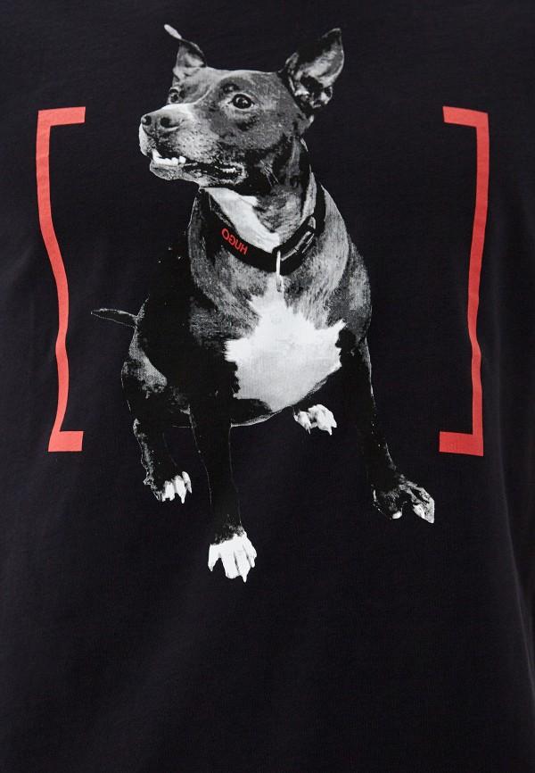 Фото 4 - мужскую футболку Hugo Hugo Boss черного цвета