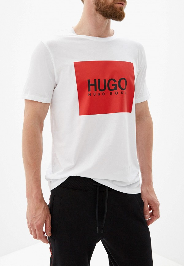 мужская футболка hugo, белая