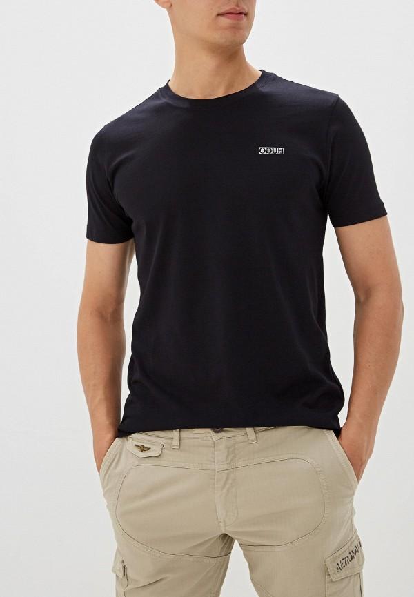 мужская футболка hugo, черная